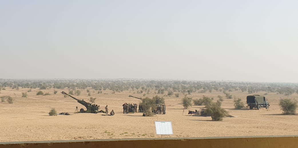 The Indian Army has for the first time test fired M982 Excalibur precision-guided, extended range artillery projectiles from M777 155 mm 39-caliber towed ultra light howitzer guns at the Pokhran test range in the Thar Desert region in northwestern India on December 9.