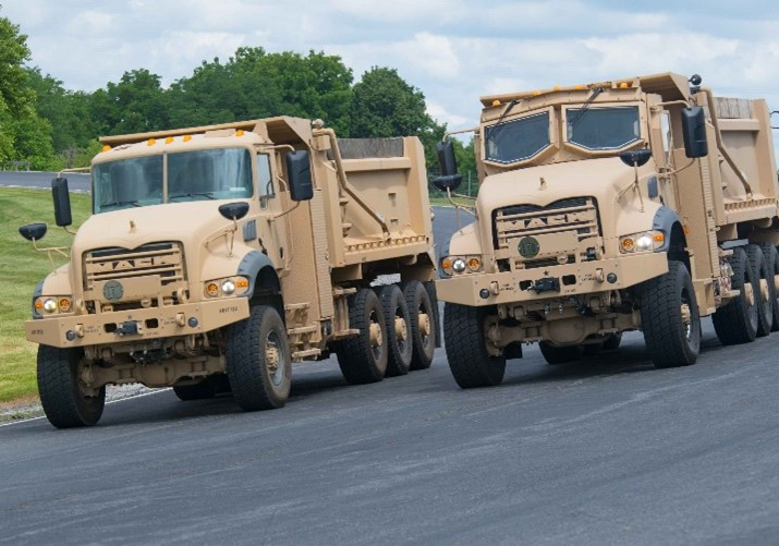 Mack Defense M917A3 non-armored Heavy Dump Trucks (HDT)