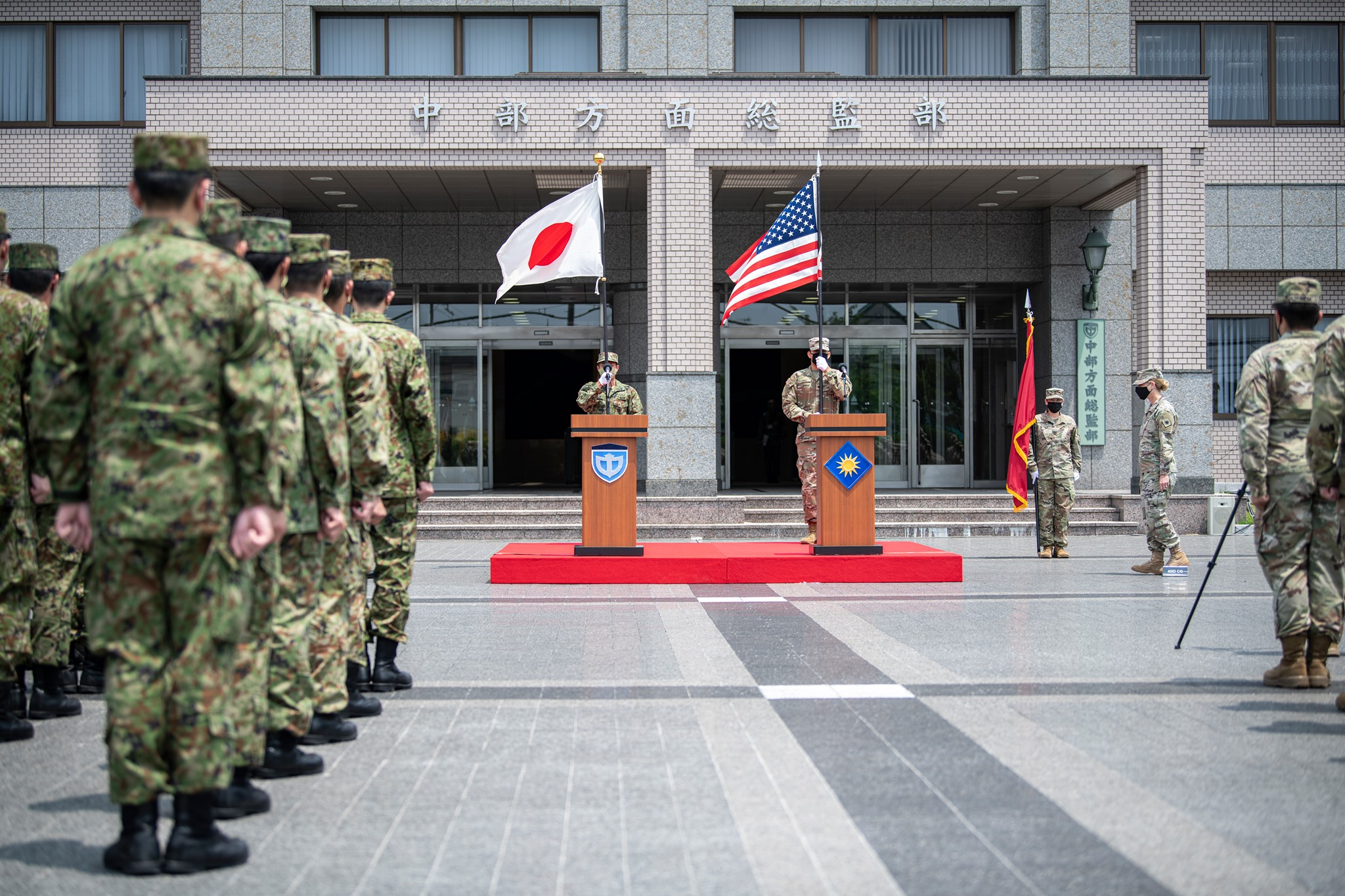 Ceremony Kicks Off Bilateral Field Training Exercise Orient Shield 21-2 in Japan