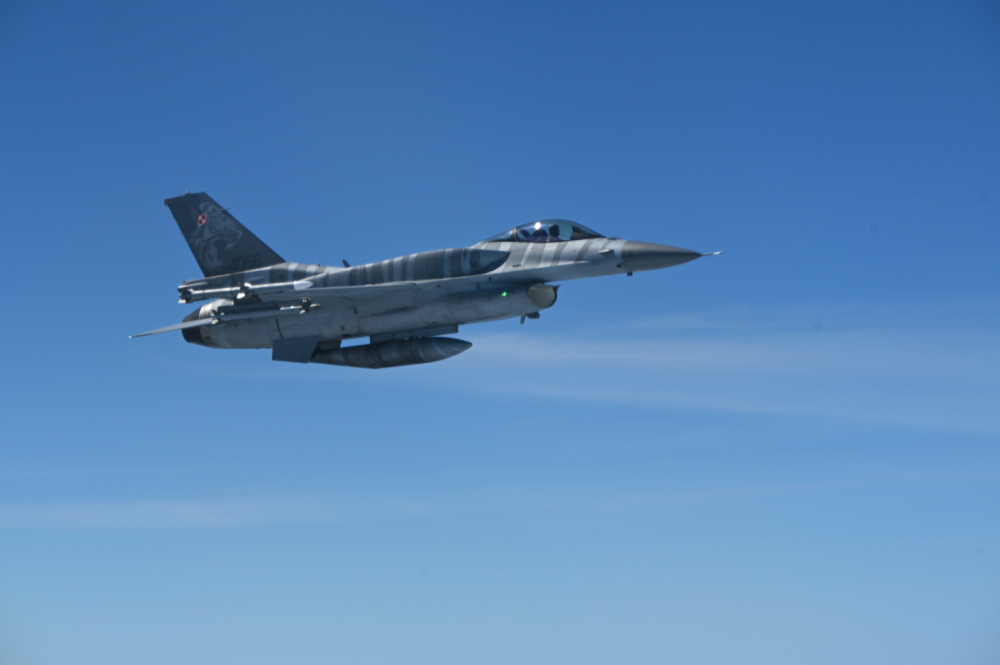 A Polish Air Force F-16C Fighting Falcon in support of Bomber Task Force Europe 21-3, May 31, 2021.