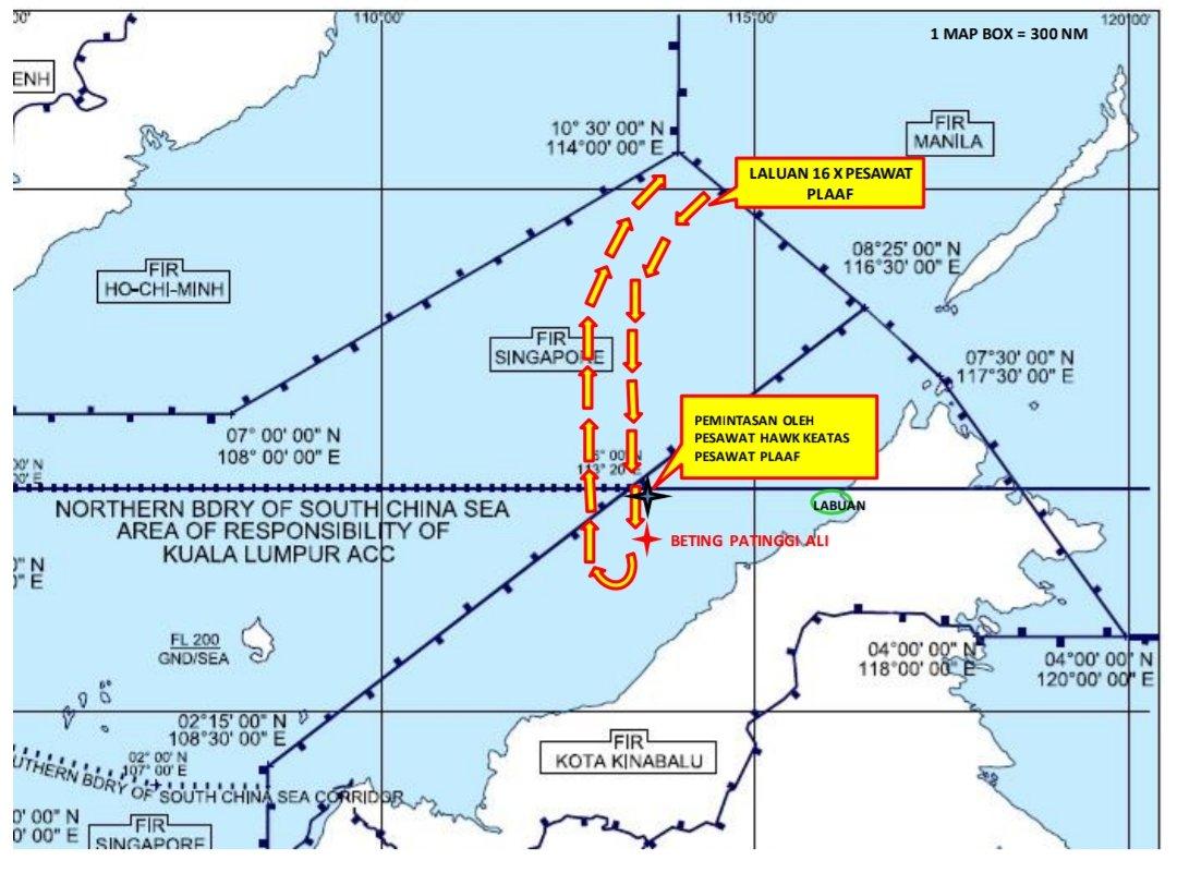 Royal Malaysian Air Force Intercepts 16 Chinese Military Aircrafts Over Malaysia