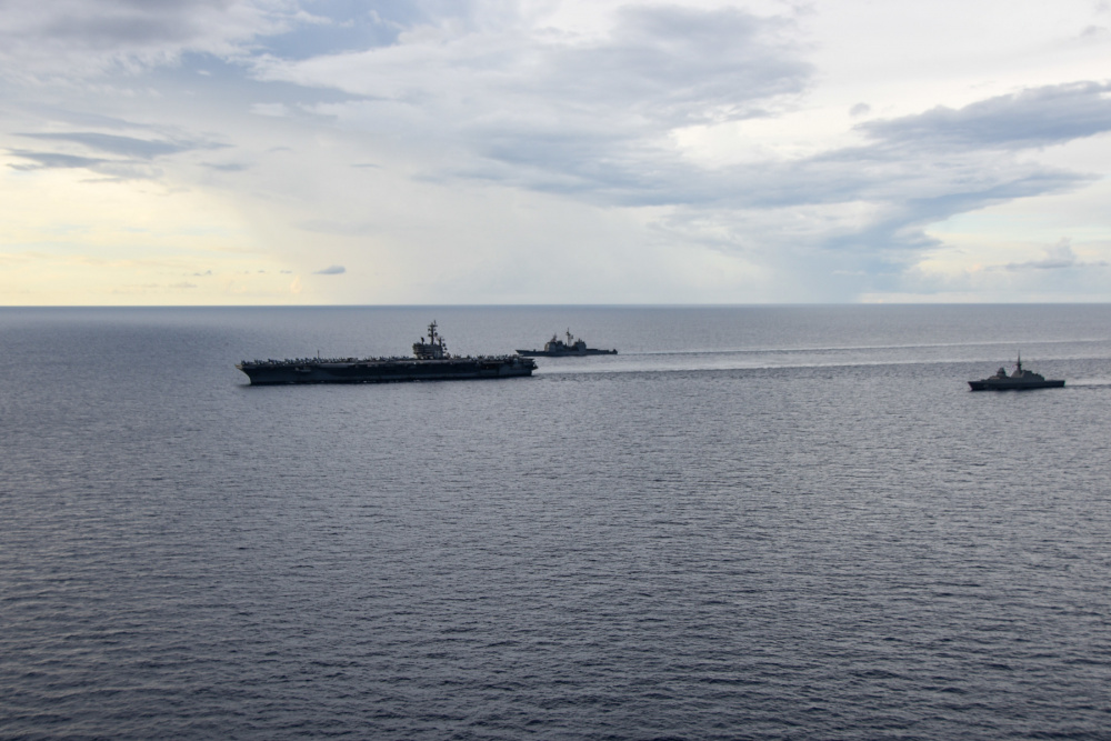 Ronald Reagan Carrier Strike Group Exercises with Republic of Singapore Navy