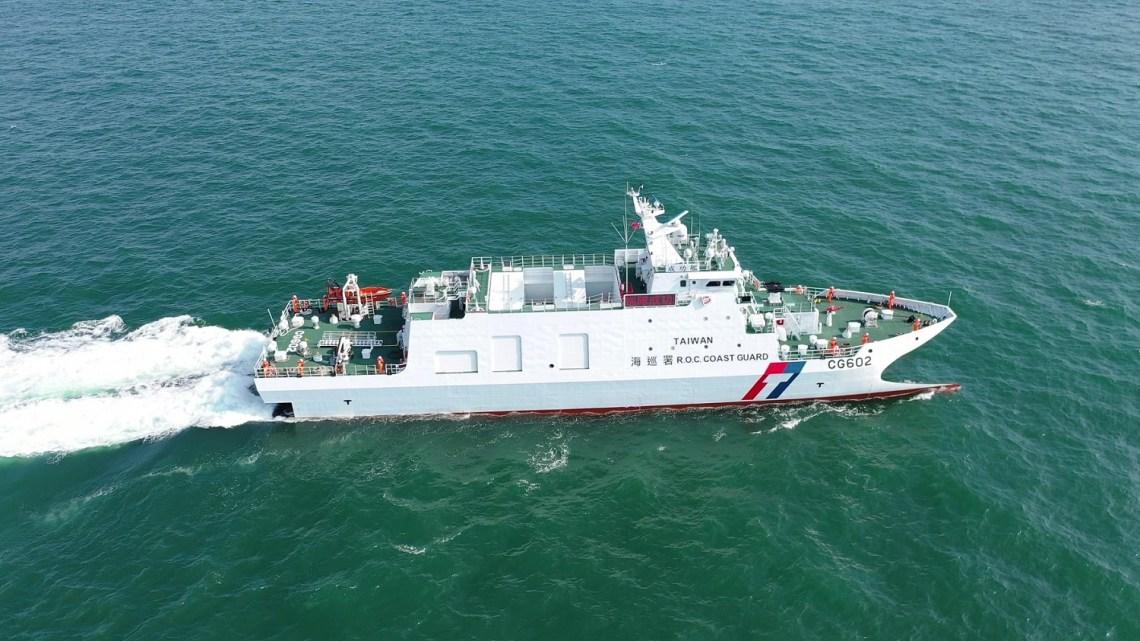 Taiwan Coast Guard Takes Delivery Chenggong Catamaran Offshore Patrol Vessel