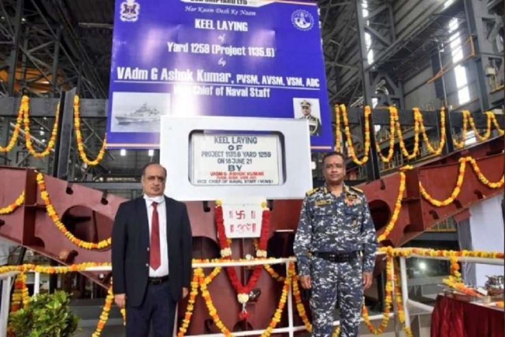 Keel Laid for Indian Navy's Second Project 1135.6 Talwar-Class Frigate