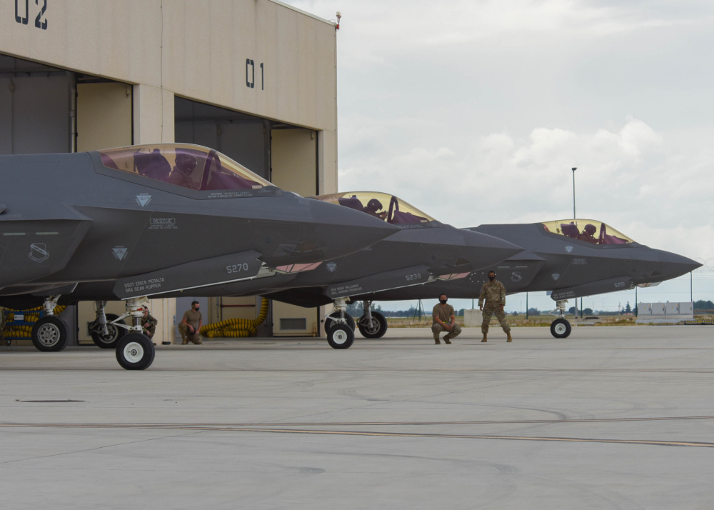 US Air Force F-35s Join Israeli Italian and UK Partners for Falcon Strike 21 Exercise