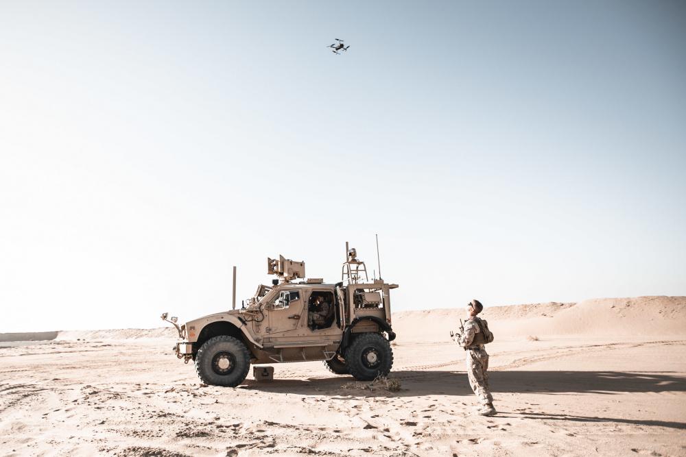 US Marine Corps Tests Light MADIS Air Defense with Polaris MRZR in Kingdom of Saudi Arabia