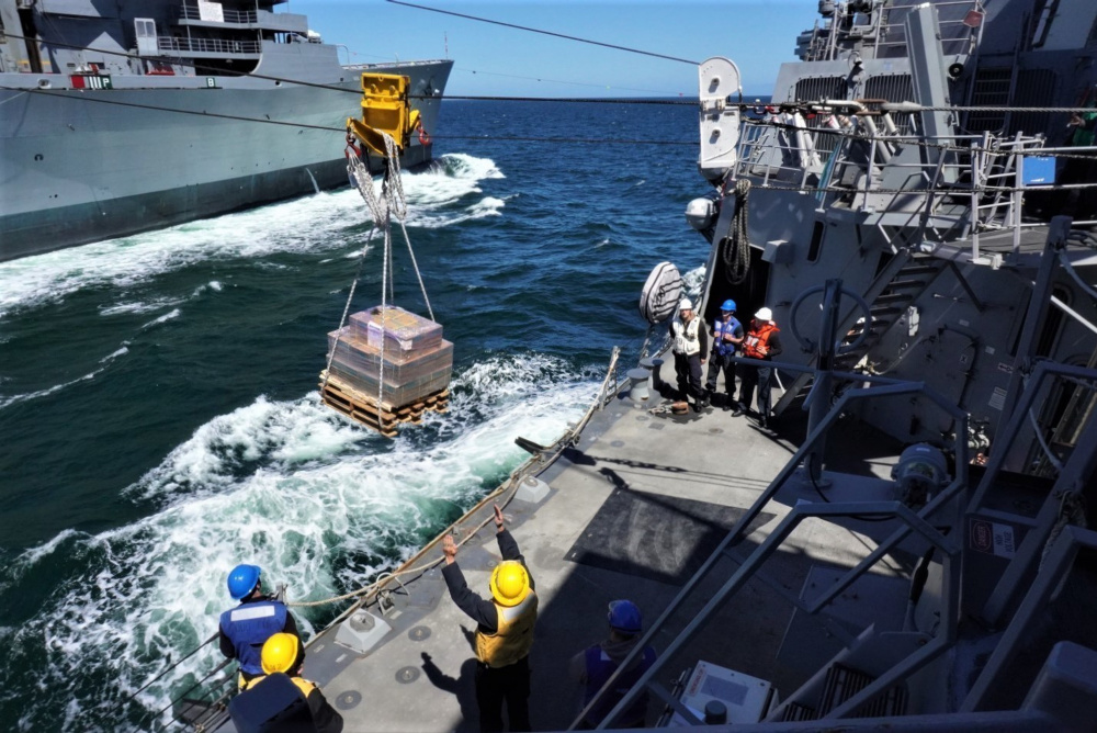 US Navy Military Sealift Command's Largest Combat Logistics Force Ship Returns to Norfolk
