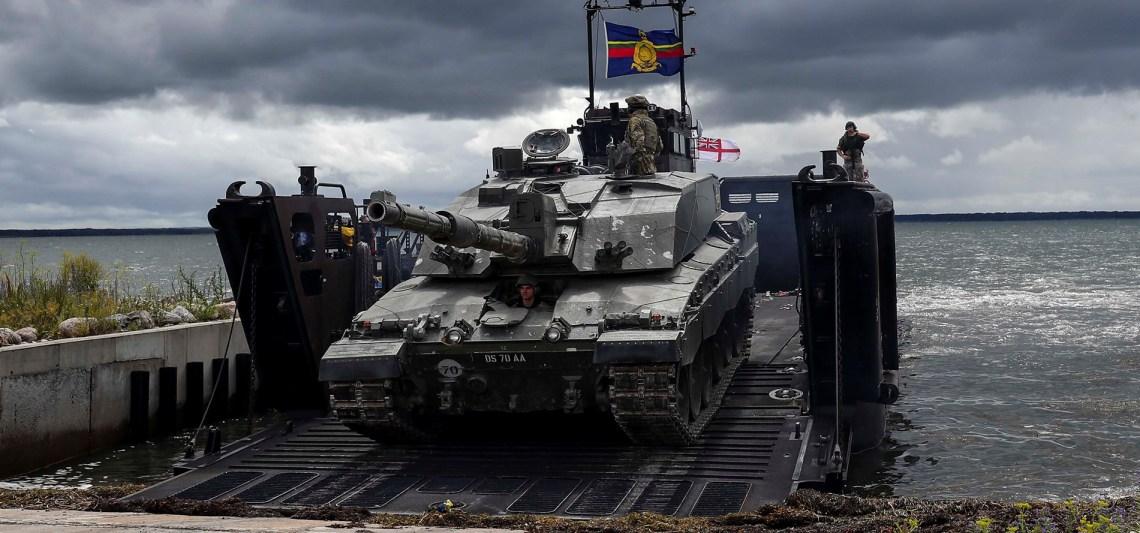 British Army King's Royal Hussars Challenger 2 main battle tank