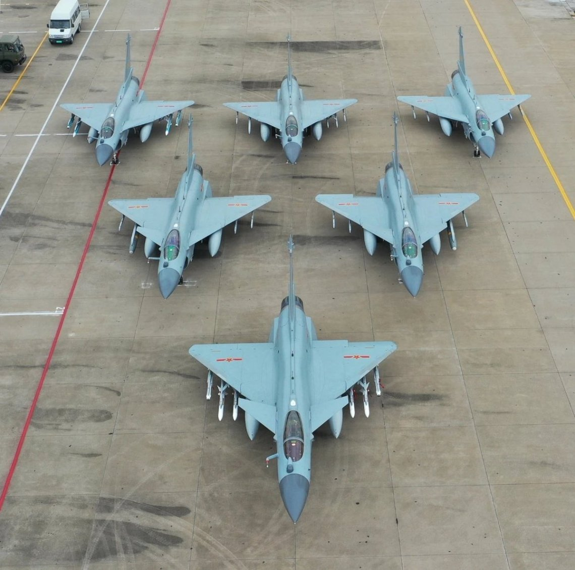 People's Liberation Army Air Force (PLAAF) Chengdu J-10C Multirole Fighters