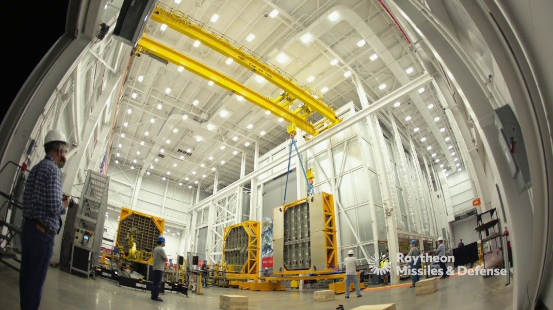 Raytheon Missiles & Defense building the first SPY-6 for the U.S. Navy at its advanced Radar Development Facility in Andover, Massachusetts.