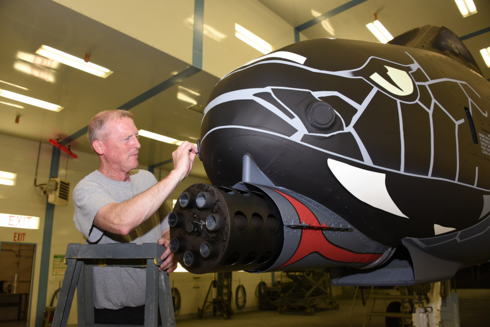 Air National Guard Paint Facility Completes Blacksnake Livery on US Air Force A-10 Thunderbolt II