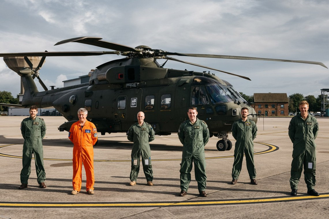 From left to right is: Lt Fred Durrant - CHF Maintenance Test Pilot (Merlin)