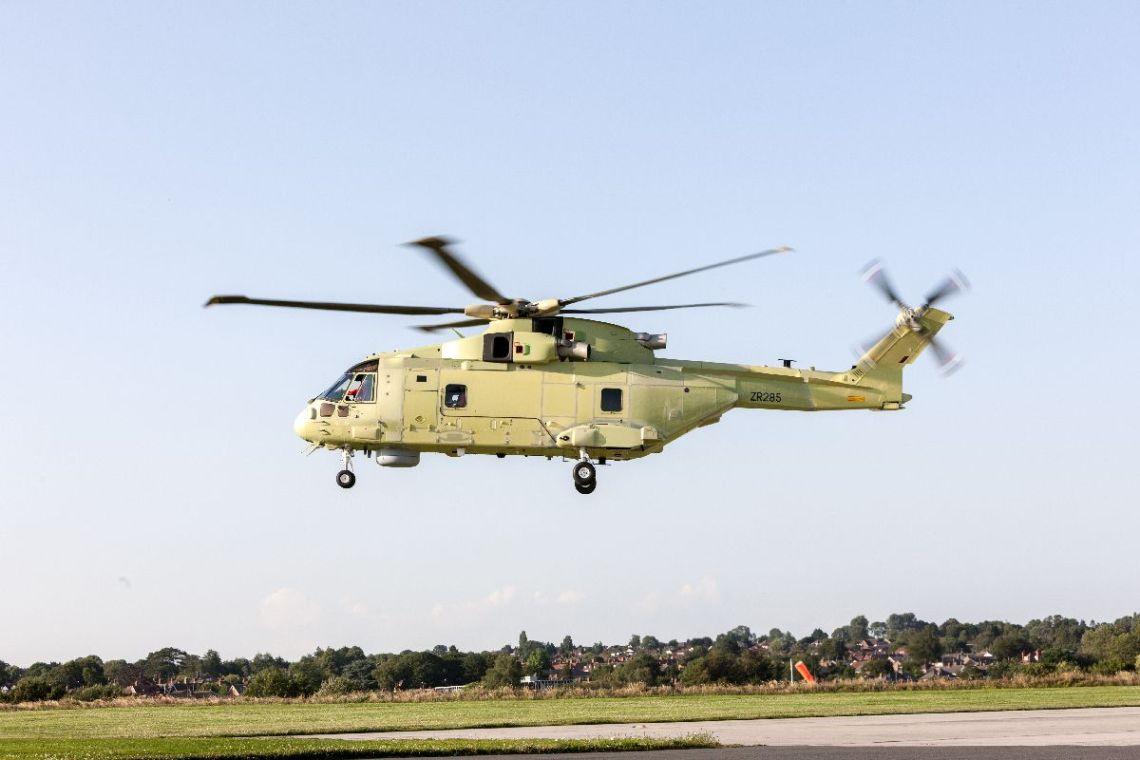 First Leonardo AW101 Medium-lift Helicopter for Polish Navy Makes Maiden Flight