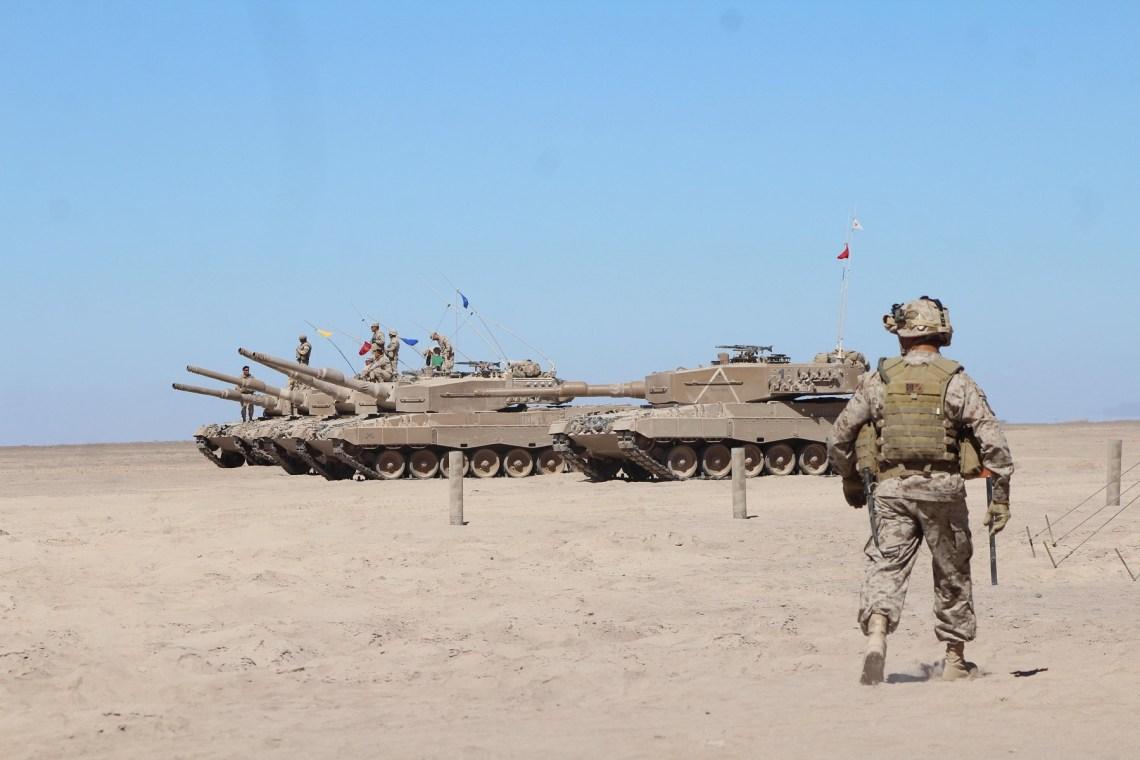 Chilean Army Leopard 2 Main Battle Tanks (Photo by Ejército de Chile)