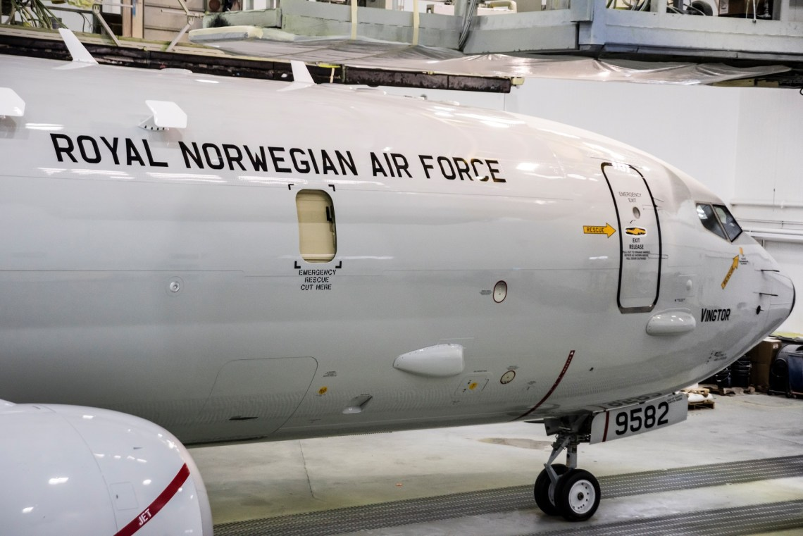 Royal Norwegian Air Force's First Boeing P-8A Poseidon Rolls Out of the Paint Shop