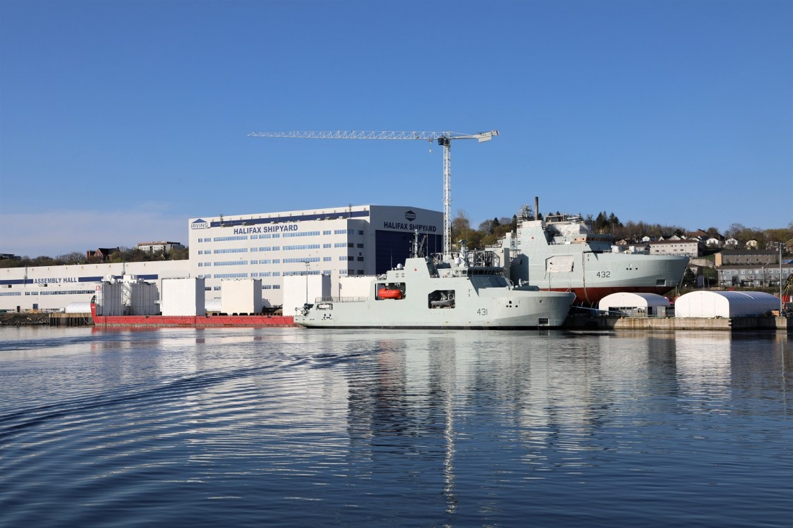 Royal Candian Navy Takes Delivery of Future HMCS Margaret Brooke Arctic and Offshore Patrol Ship