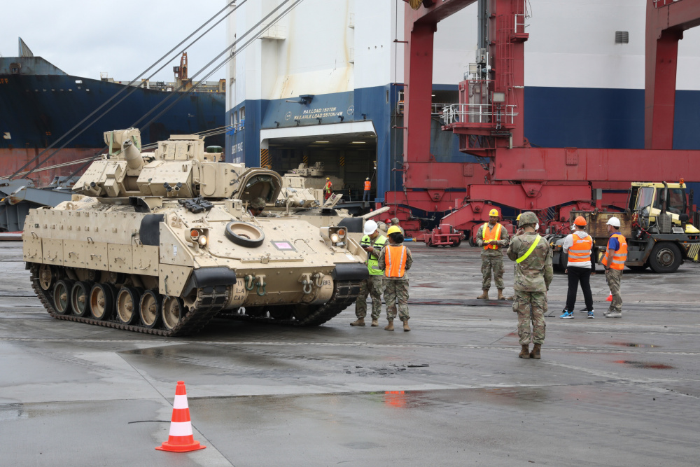 US Army 1st Armored Brigade Combat Team Arrives in Poland for Atlantic Resolve