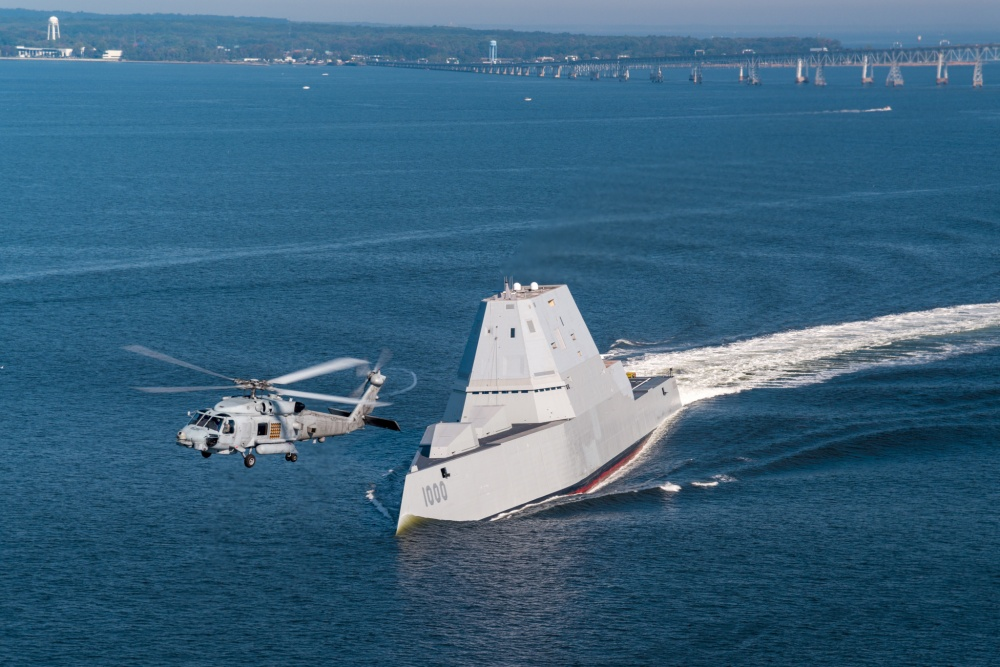 US Navy USS Zumwalt (DDG 1000) guided missile destroyers