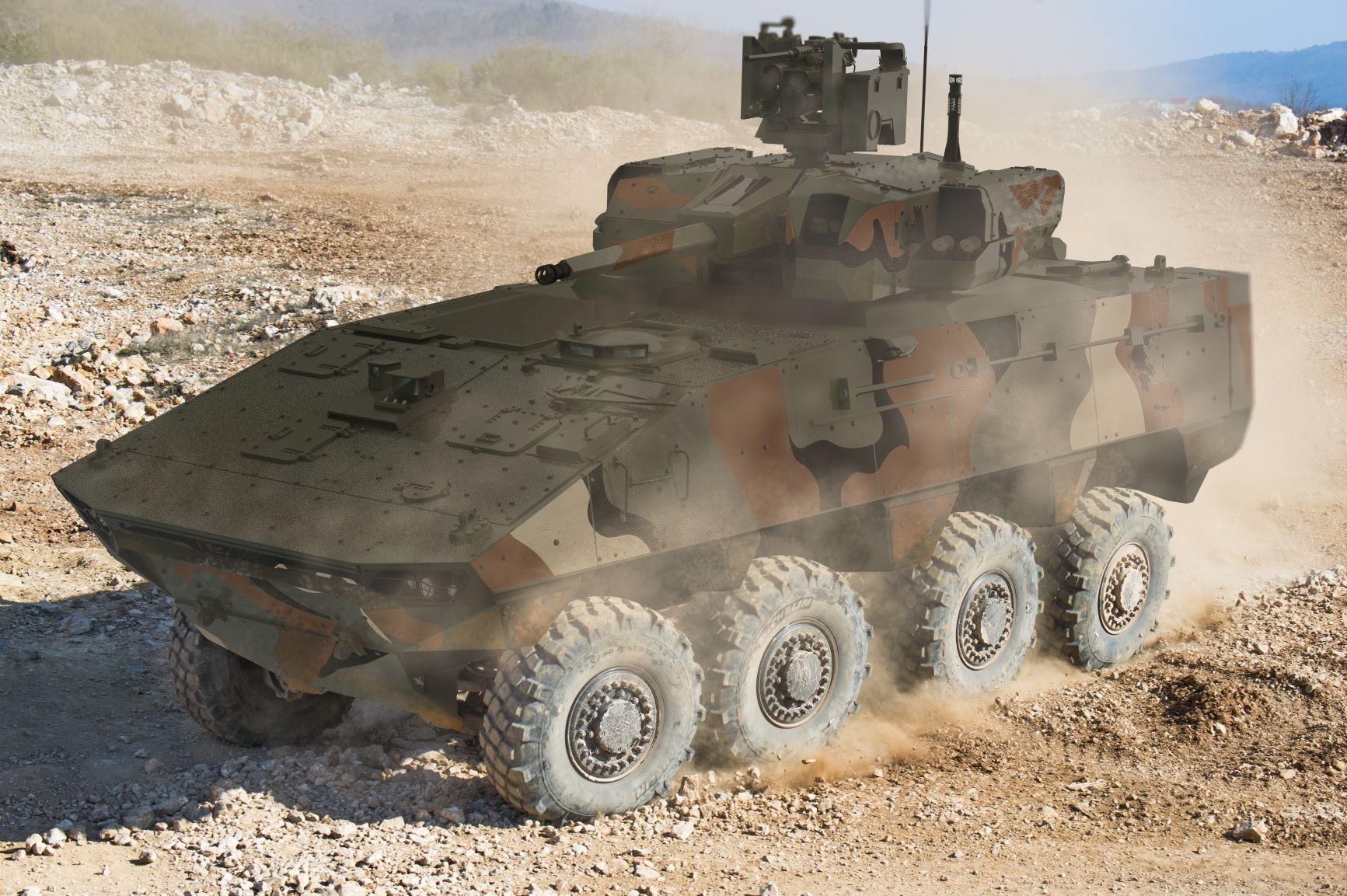 Nexter Launches VBCI Philoctetes 8X8 Infantry Combat System at DEFEA 2021