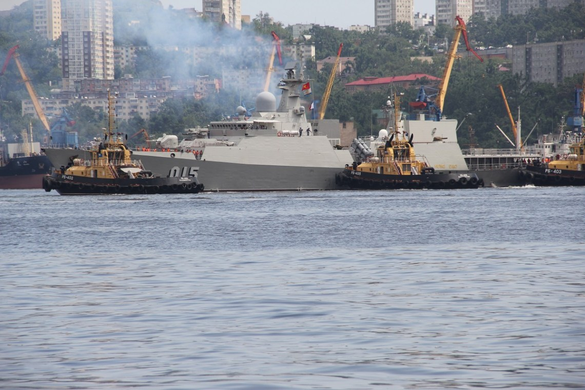 Vietnamese People's Navy Gepard-class missile frigate Trần Hưng Đạo (HQ-015)