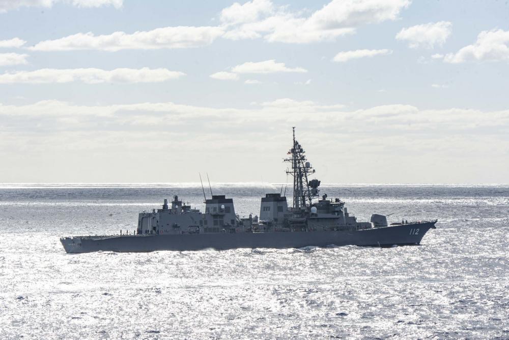 Japan Maritime Self-Defense Force (JMSDF) destroyer JS Makinami (DD 112)