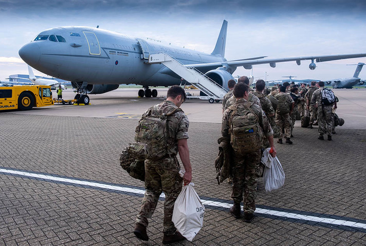 Members of Joint Forces Headquarters (JFHQ) deploy to Afghanistan.