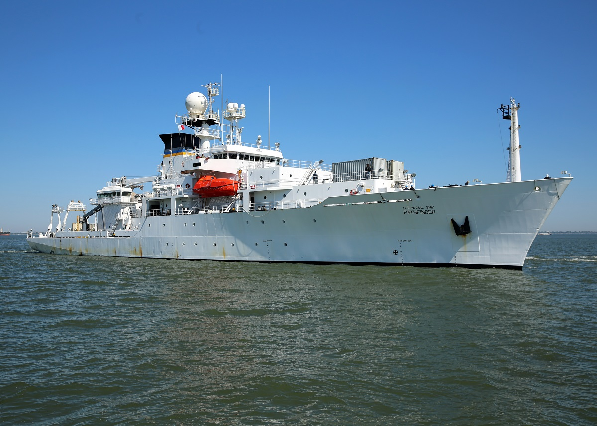 US Navy Military Sealift Command oceanographic survey ship USNS Pathfinder (T-AGS 60)