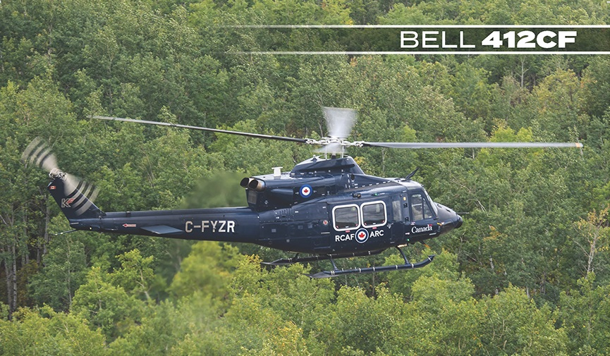 The Bell 412CF provides the second level of helicopter training in the Royal Canadian Air Force prior to trainees earning their wings.
