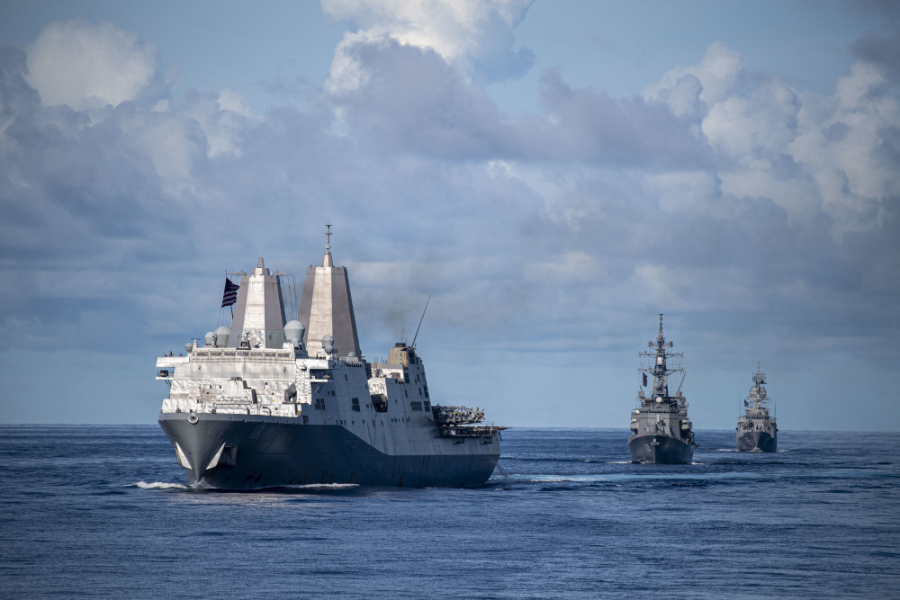 Japan Maritime Self-Defense Force JS Makinami Took Charge During Combined and Joint Battle Problem