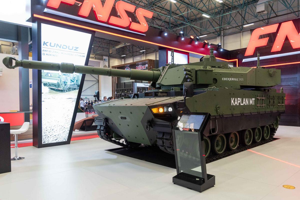 FNSS Unveils Its KAPLAN MT Serial Production Platform Design at at IDEF2021