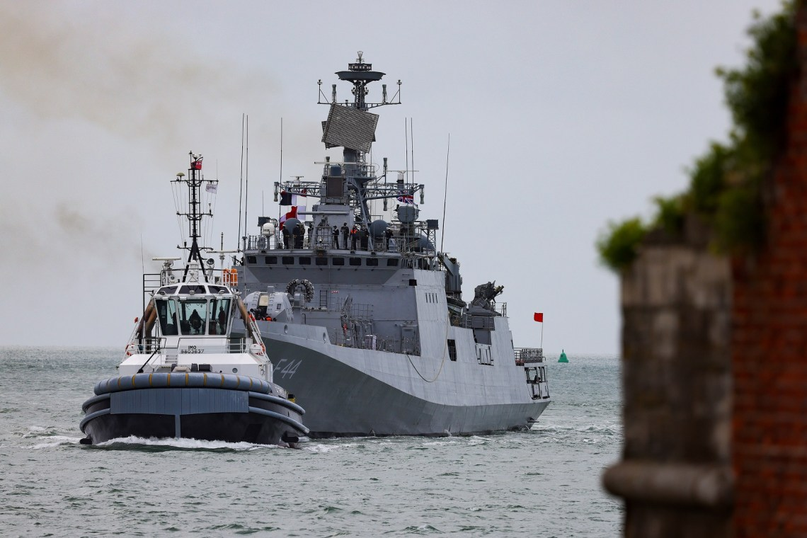 Indian Navy Frigate INS Tabar Visits Portsmouth Ahead of Workout with Royal Navy
