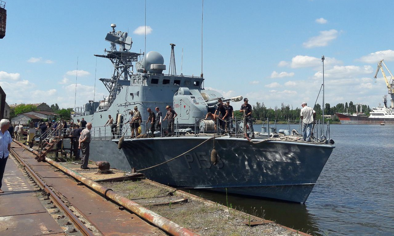 Ukrainian Naval Forces Matka-class missile boat Pryluky (P153)