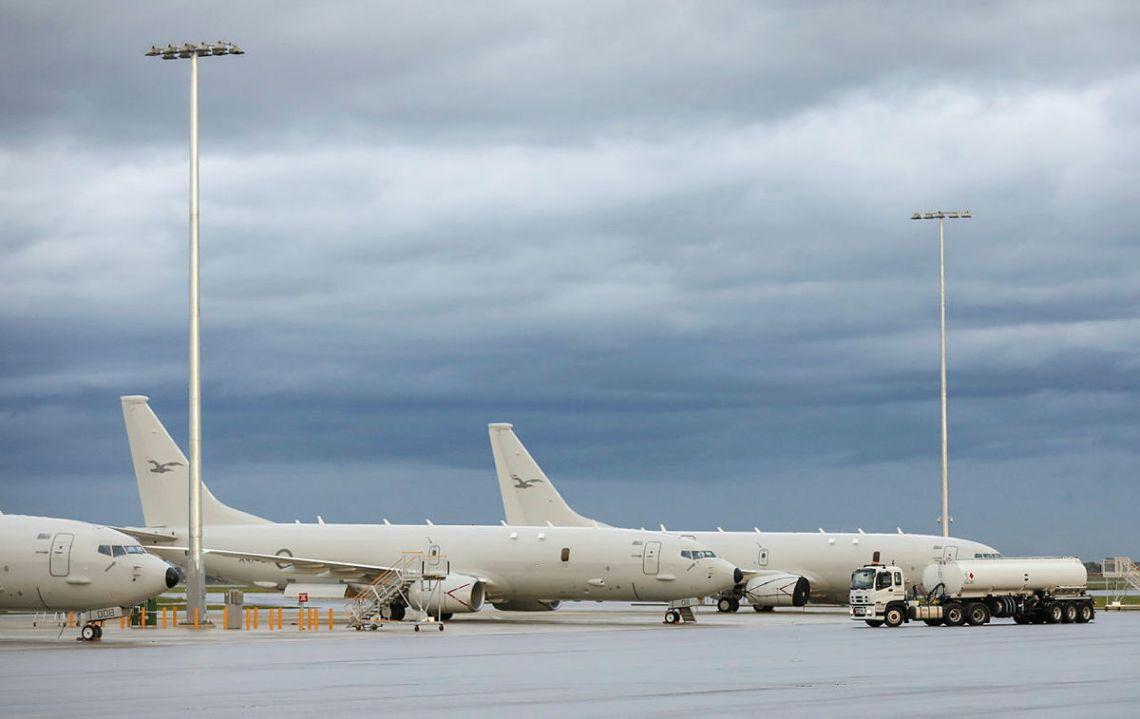 Royal Australian Air Force P-8A Poseidon maritime patrol aircraft departs for Operation ARGOS