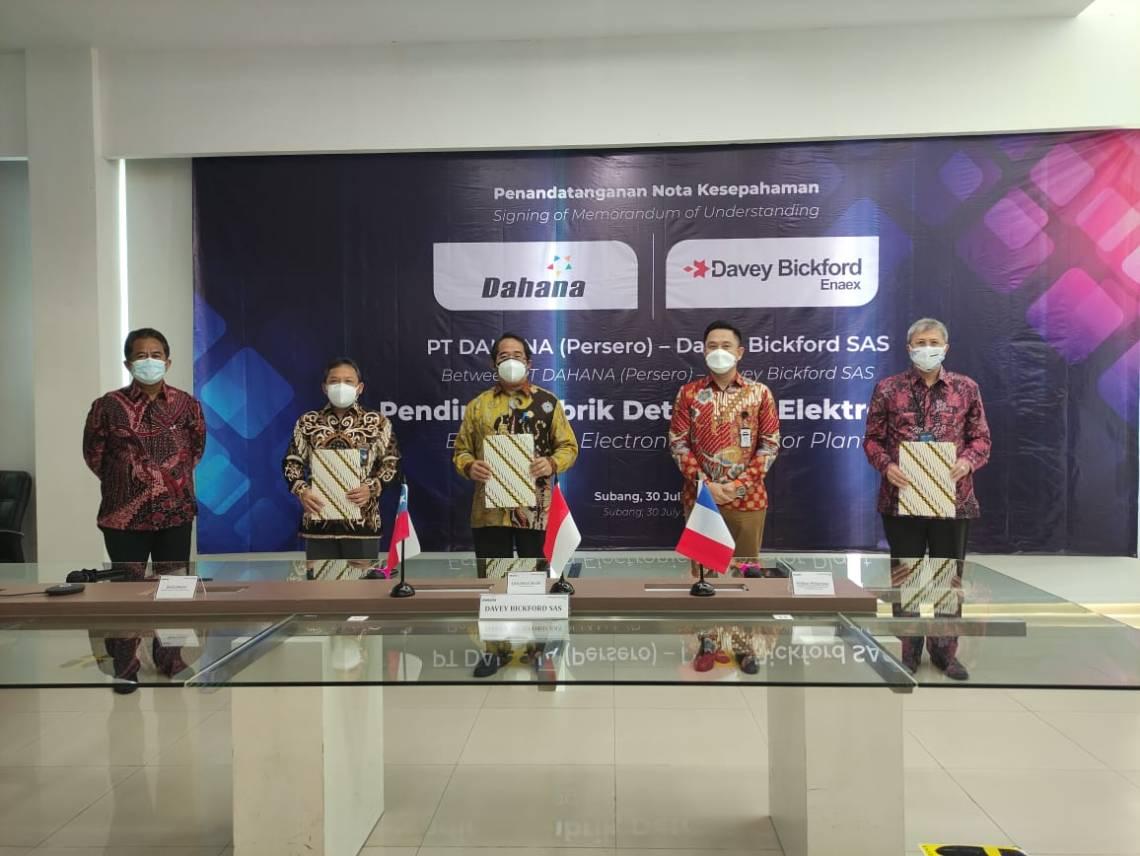 PT DAHANA and Davey Bickford SAS to Establish First Electronic Detonator Plant in Indonesia