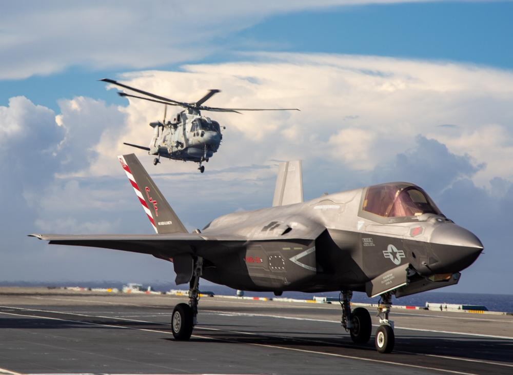 Royal Navy and US Marine Corps Conducts First Cross-Deck Aviation Mission in Modern Naval History