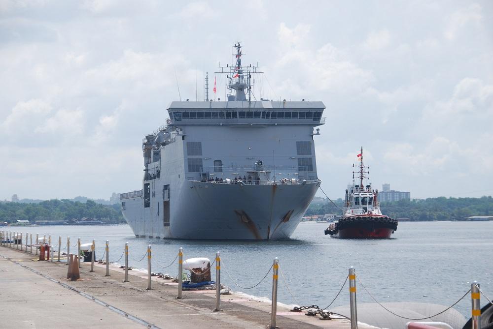 Royal New Zealand Navy Multi-Role Vessel (MRV) HMNZS Canterbury (L421)