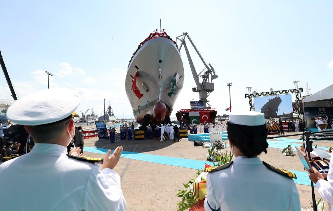 Turkey's Istanbul Shipyard Launched First Babur-Class MILGEM Corvette For Pakistan Navy