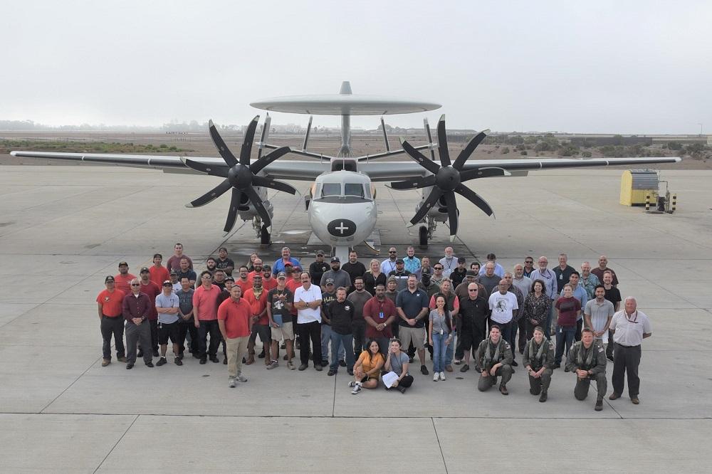 US Fleet Readiness Center Southwest (FRCSW) Returns Its Final PMI-2 E-2C Hawkeye