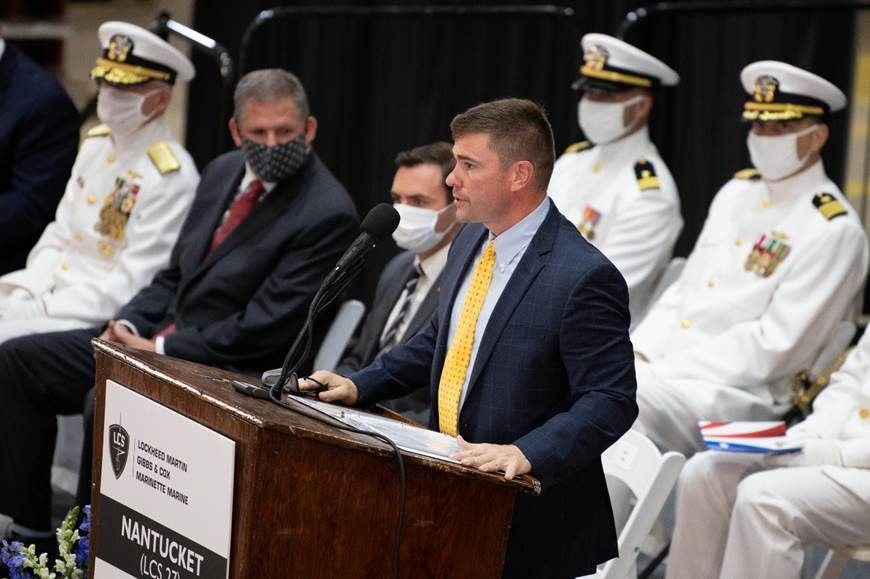 Steve Allen, Lockheed Martin, Vice President, Small Combatants And Ship Systems Delivers Remarks Before The Launch And Christening Of The Nation's 27th Littoral Combat Ship, The Future USS Nantucket.