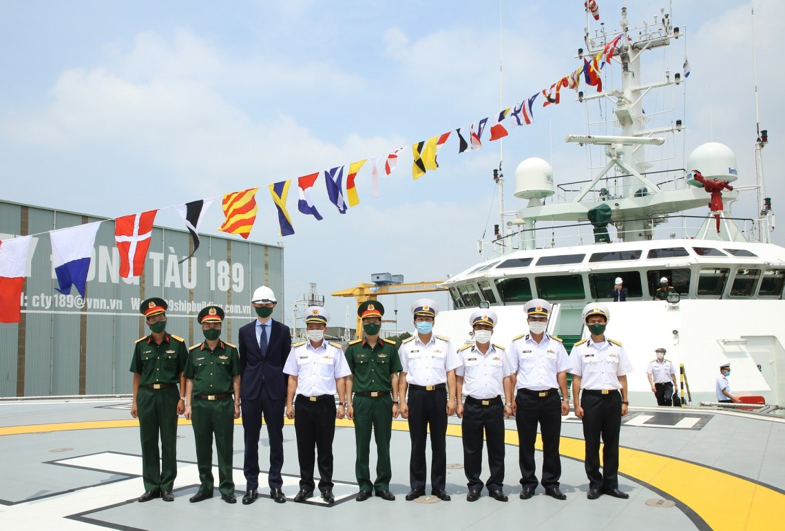 Vietnam People's Navy Commissioned Multipurpose Submarine Search and Rescue Ship (MSSARS) Y?t Kiêu
