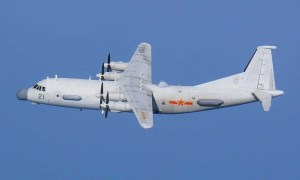 Chinese People's Liberation Army Shaanxi Y-9 Military Transport Aircraft