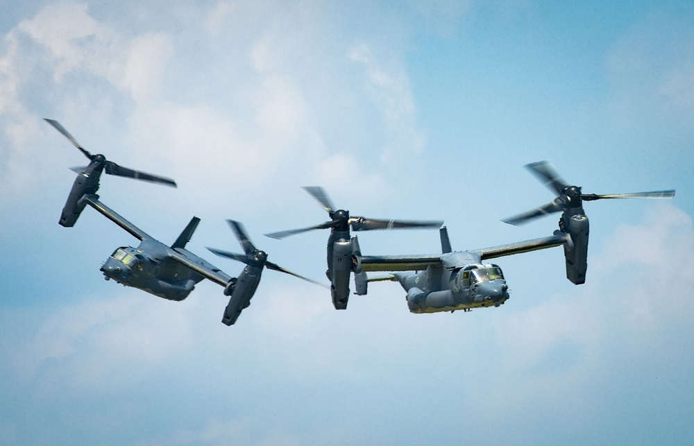 Bell Boeing Begin Nacelle Improvement on US Air Force CV-22 Osprey Tiltrotor Military Aircraft