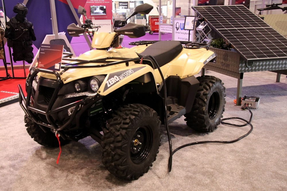 Eco Charger Partnership with Supacat Launches Vizsla Military All Electric Quad at DSEI 2021