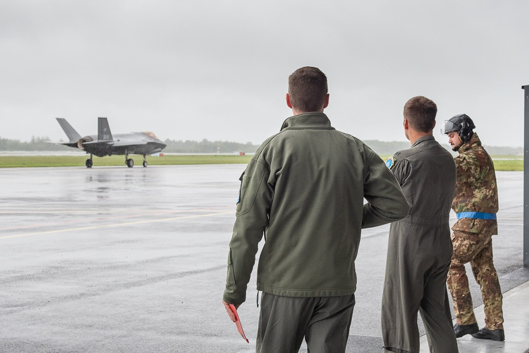 NATO evaluators from HQ Allied Air Command assess the F-35 detachments ability to carry out its mission in accordance with NATO standards. Photo courtesy of Italian Air Force