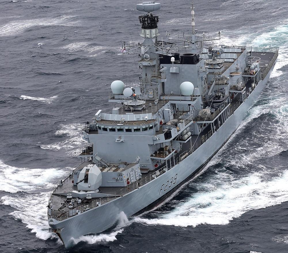 Royal Navy HMS Richmond Conducts UN Sanctions Against North Korea During Carrier Strike Deployment