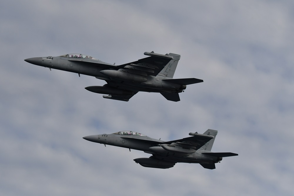 U.S. Navy EA-18G Growler carrier-based electronic warfare aircrafts
