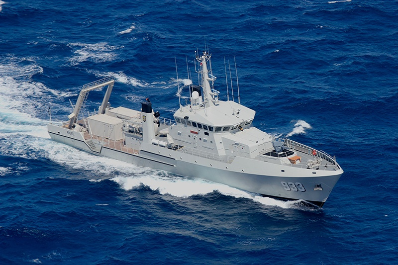 Indonesian Navy Rigel 933 oceanographic and hydrographic research vessels