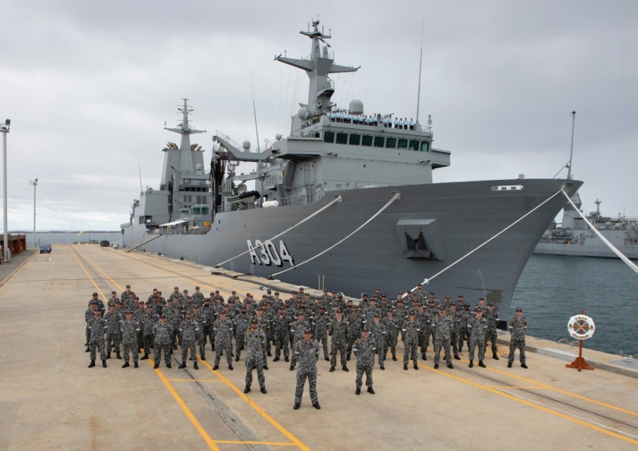 Royal Australian Navy NUSHIP Stalwart Auxiliary Oiler Replenishment Ship