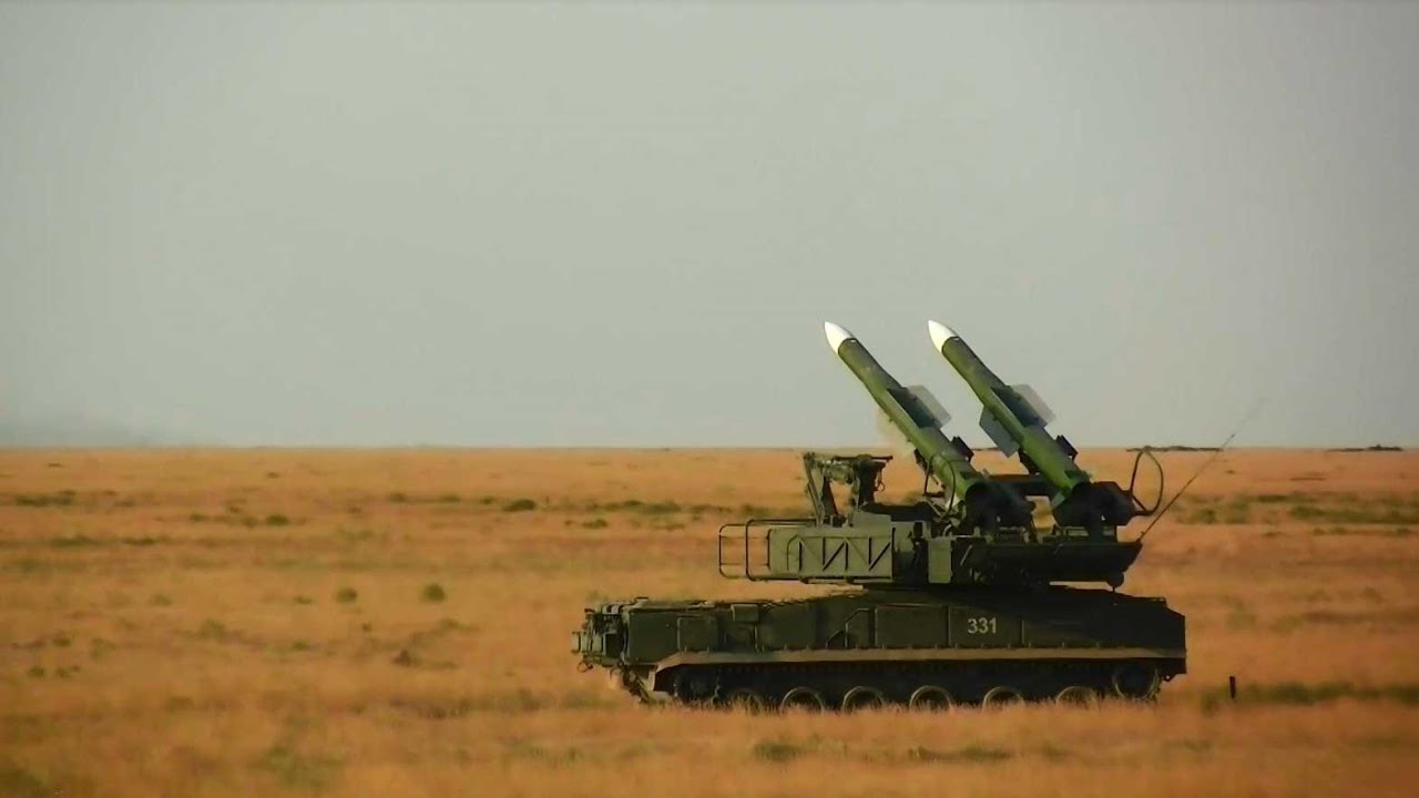 Russian Central Military Region Buk-M3 Surface-to-air Missile System Test-firing at Kapustin Yar
