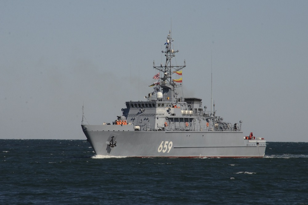 Russian Navy Minesweeper Vladimir Yemelyanov Arrives at Its Permanent Base in Sevastopol